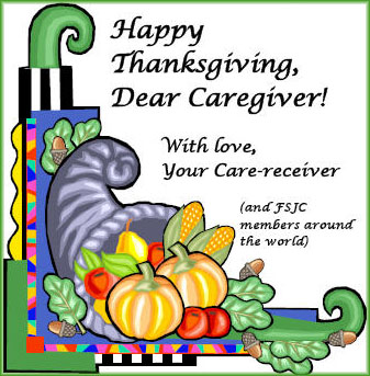 Happy Thanksgiving, Dear Caregiver!